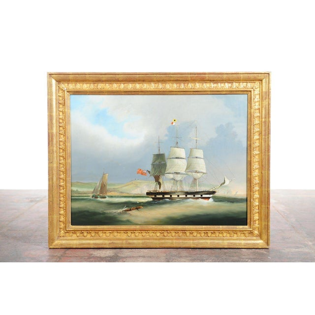 English Sail Boat - 19th Century Oil Painting - Image 3 of 12