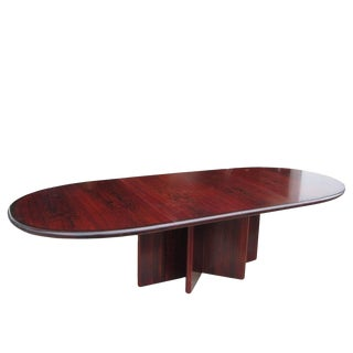 Rosewood Ansager Mobler Extension Dining Table For Sale