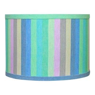Ikat Stripe Drum Lamp Shade
