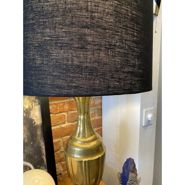 Mid-Century Modern Brass Lamps by Marbro Brass Lamps - Pair For Sale - Image 9 of 10