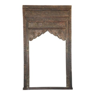Antique Anglo-Indian Teak Wood Arch For Sale