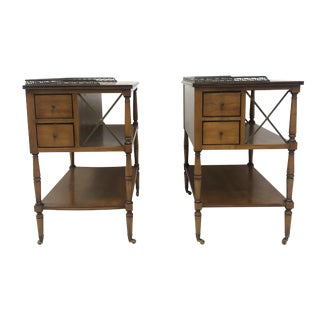 Kittinger Three Tiered End Tables / Bartcarts - a Pair For Sale