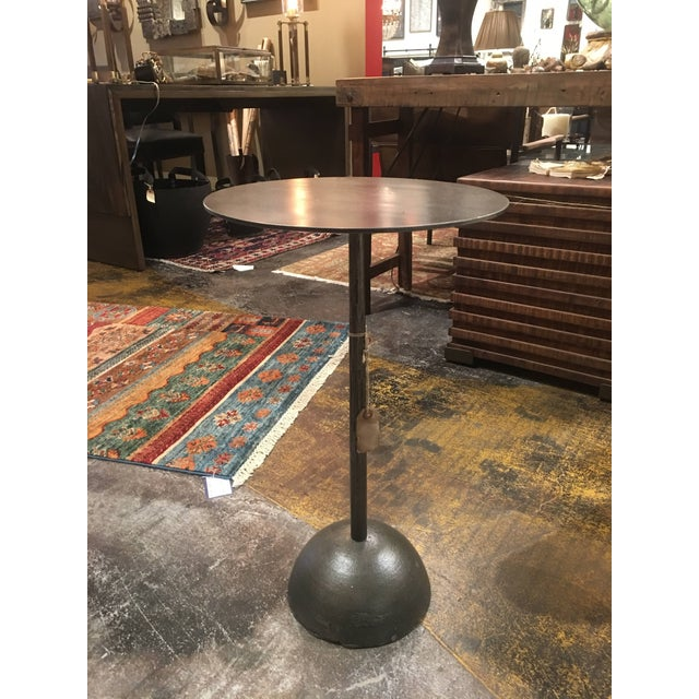 Industrial Cast Iron Adela End Table For Sale In Denver - Image 6 of 13