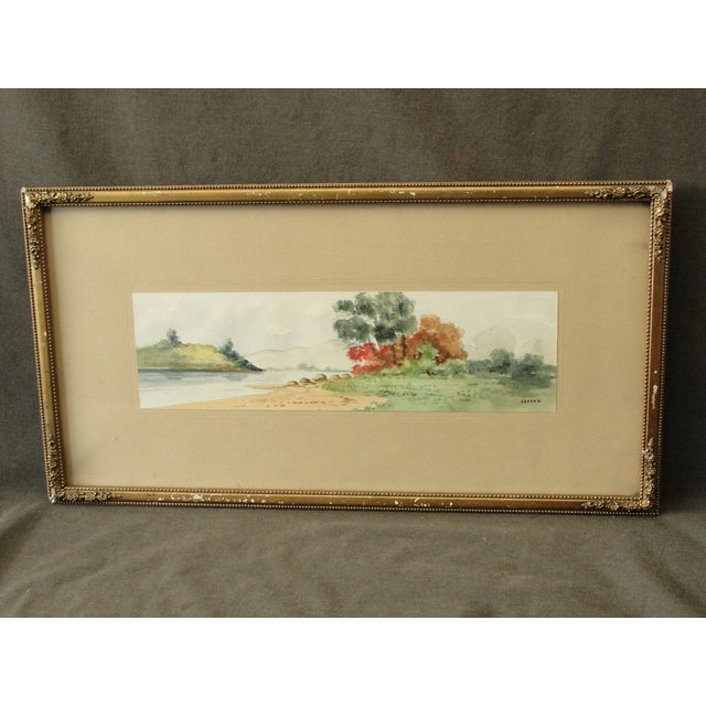 Antique Landscape Watercolor by Hasson - Image 2 of 9