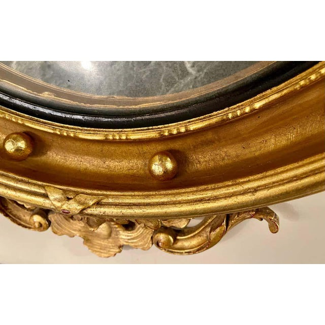 Federal Style Convex Eagle Carved Mirror, Wall, Console Mirror For Sale In New York - Image 6 of 13