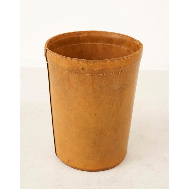 Leather Danish Wastebasket, 1960s For Sale - Image 11 of 11