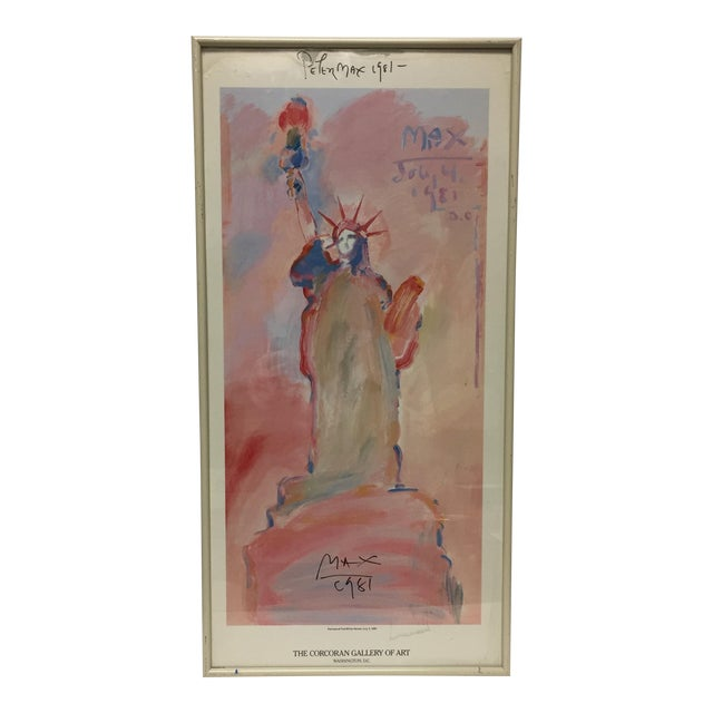 """Peter Max Signed """"Statue of Liberty"""" Print For Sale"""