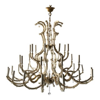 Impressive Venetian 37-Light Chandelier For Sale