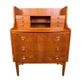 Image of Vintage Danish Modern Teak Secretary Desk For Sale