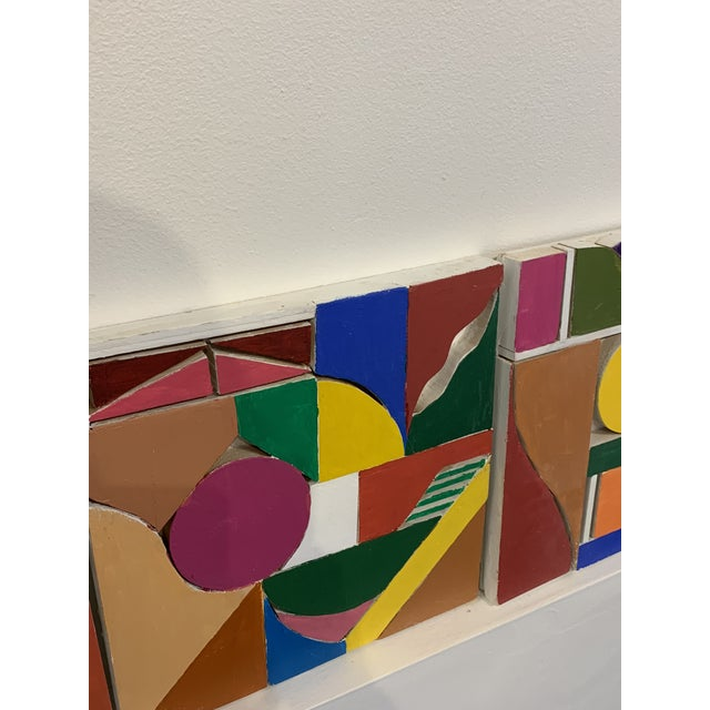 1980s Color Wood Blocks A. Mallow 1980s Sculpture For Sale - Image 5 of 6