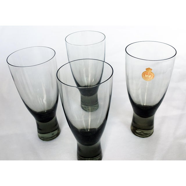 Holmegaard Mid-Century Danish Smokey Wine Port Glasses - Set of 8 - Image 5 of 6