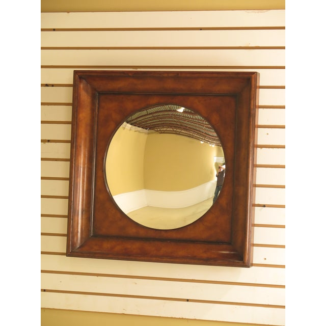 Glass Theodore Alexander Square Walnut Mirror For Sale - Image 7 of 7