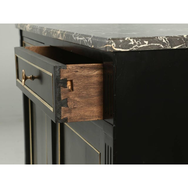 Late 19th Century Antique French Louis XVI Style Buffet in an Ebonized Finish For Sale - Image 5 of 10