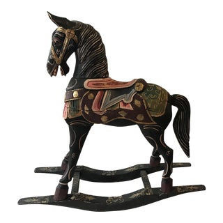 Vintage Decorative Carved Rocking Horse