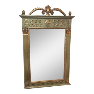 Vintage French Trumeau Wall Mirror For Sale