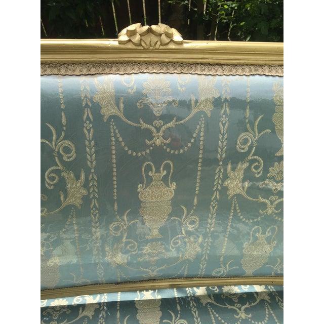 Gold Gilt Italian Louis XVI Settee & Chairs - Set of 3 - Image 5 of 9