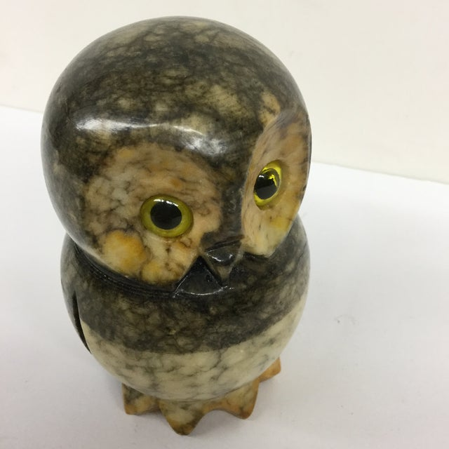 Hand Carved Alabaster Owl For Sale In Boston - Image 6 of 9