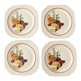 Homer Laughlin Mexicana Lunch Plates - Set of 4 For Sale