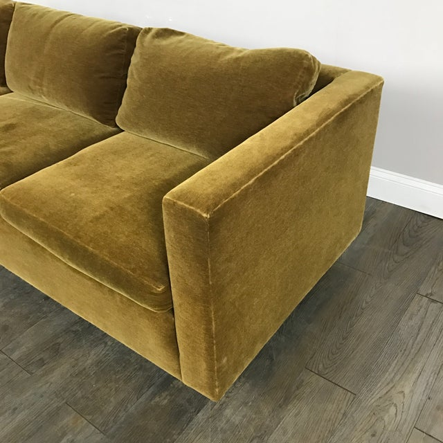Vintage Gold Mohair Sofa - Image 9 of 11