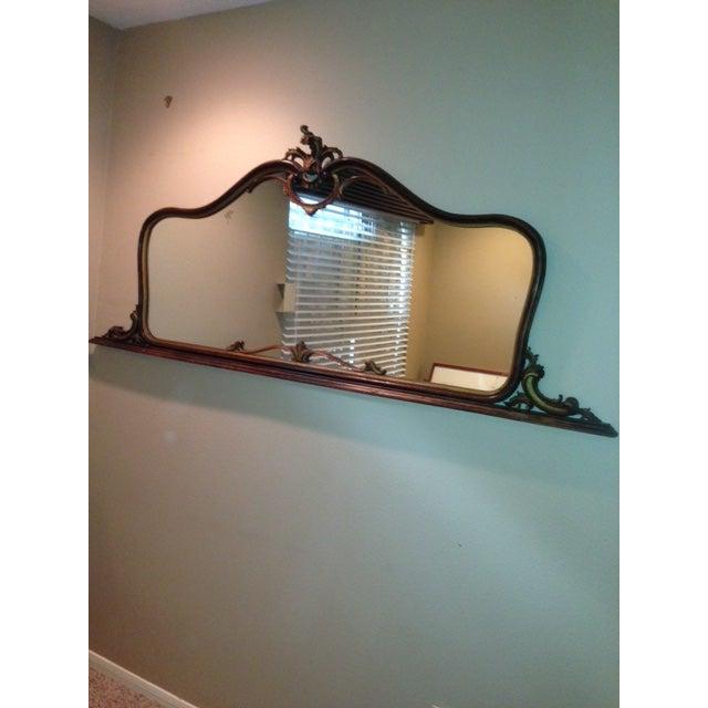 Antique Hand-Carved Wood Framed Mirror - Image 11 of 11