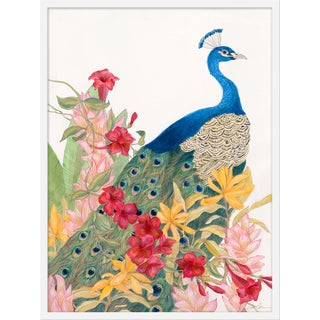 "Medium ""Peacock Paradise"" Print by Allison Cosmos, 27"" X 36"" For Sale"