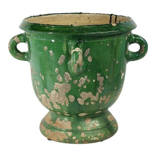 Glazed Terracotta Planter from Anduze, France For Sale