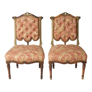 Continental Fantasy Carved Chairs - a Pair For Sale