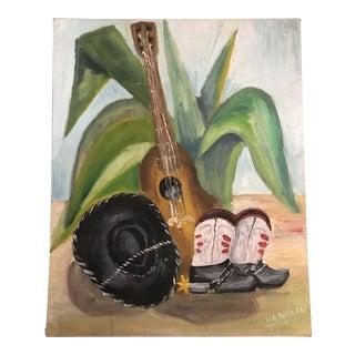 Folk Art Original Still Life Painting For Sale