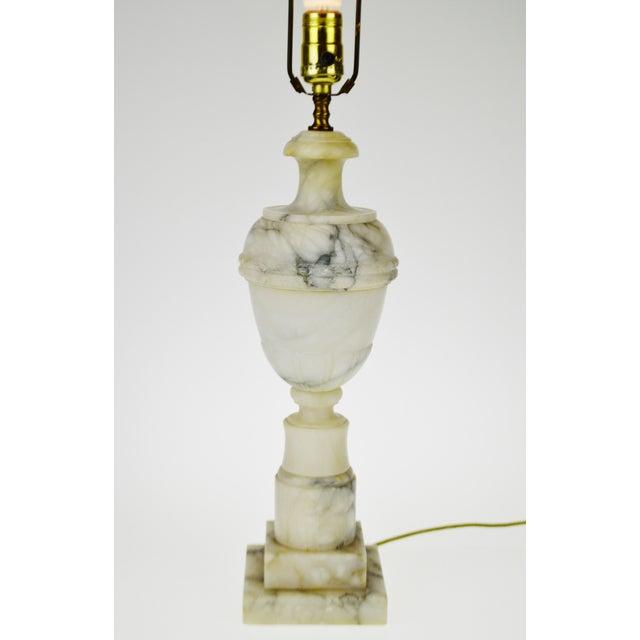 Vintage Carved Alabaster Table Lamp - Image 4 of 10