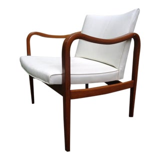 Rare 1960 Barney Flagg for Drexel Parallel Bent Wood Club Chair For Sale