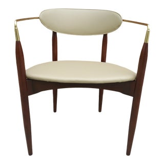 Mid Century Modern Dan Johnson Viscount Style Accent Chair For Sale
