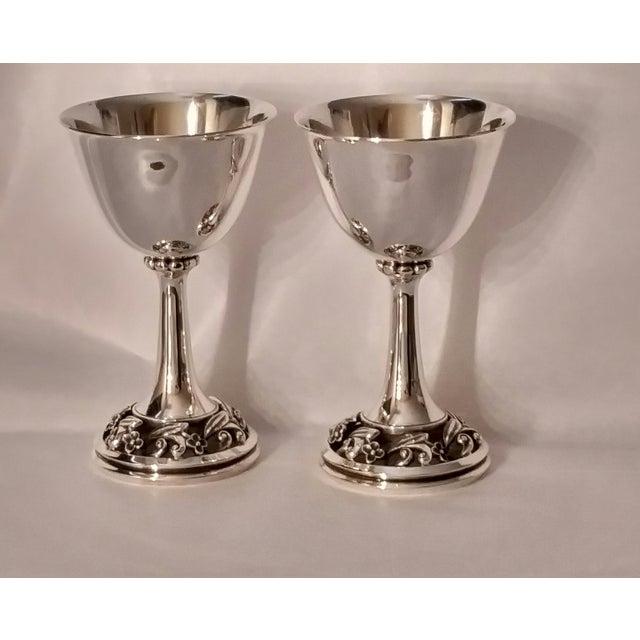 Modern Modernist Sterling Silver Goblets, La Paglia for International Silver For Sale - Image 3 of 10