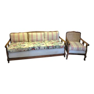 1914 Daybed & Chair - A Pair