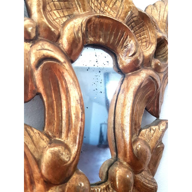 1920s French Neoclassical Gilt Wood Small Wall Mirrors - a Pair For Sale In Boston - Image 6 of 8