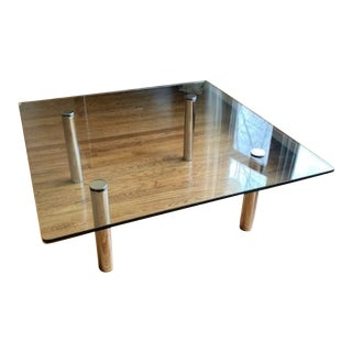 Mid-Century Modern Pace Glass & Chrome Coffee Table For Sale