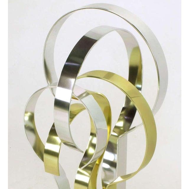 Aluminum Dan Murphy (American 20th C) Gold & Clear Anodized Aluminum Sculpture For Sale - Image 7 of 10