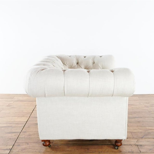 Shabby Chic Restoration Hardware Kensington Upholstered Armchair For Sale - Image 3 of 7