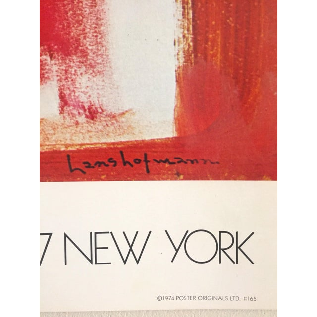 Hans Hofmann Vintage 1974 Abstract Expressionist Lithograph Print Exhibition Poster For Sale In New York - Image 6 of 9