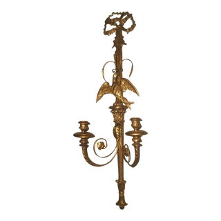 Palladio Carved Gilt Wood Candle Sconce For Sale