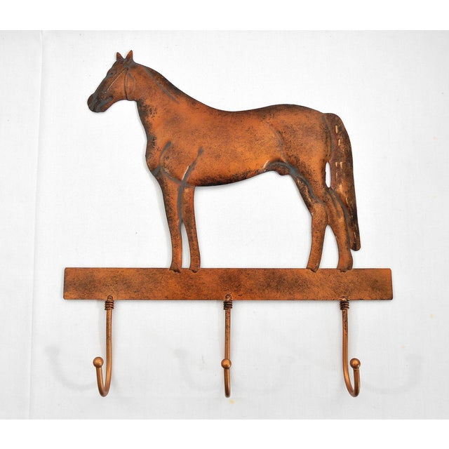 Copper Horse Wall Mounted Coat Hooks - Image 2 of 6