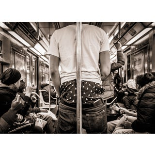 """""""E Train - New York City"""" Contemporary Figurative Photograph For Sale"""