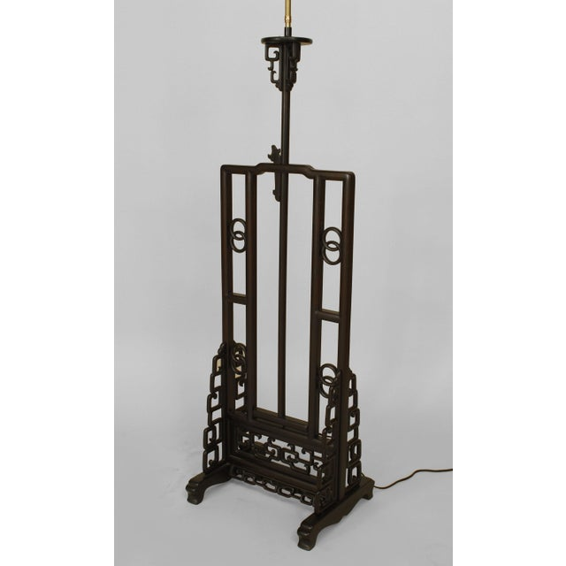 Asian Chinese Hardwood Floor Lamp For Sale - Image 4 of 9