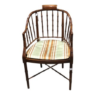 Small Baker Bamboo Design Chair For Sale
