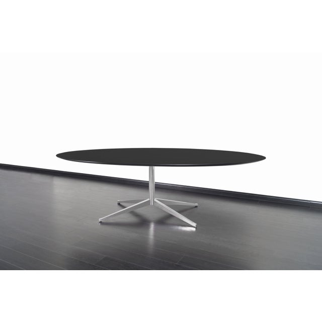 Black Vintage Executive Desk or Dining Table by Florence Knoll For Sale - Image 8 of 12