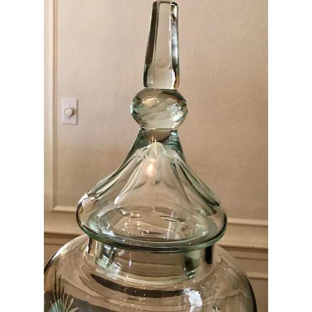 "Cut Glass ""Paris"" Beverage Dispenser For Sale In Boston - Image 6 of 9"
