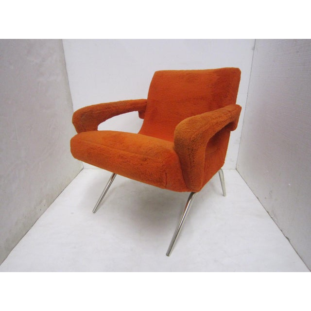 Mid-Century Italian Upholstered Lounge Slipper Chairs - a Pair For Sale - Image 10 of 13