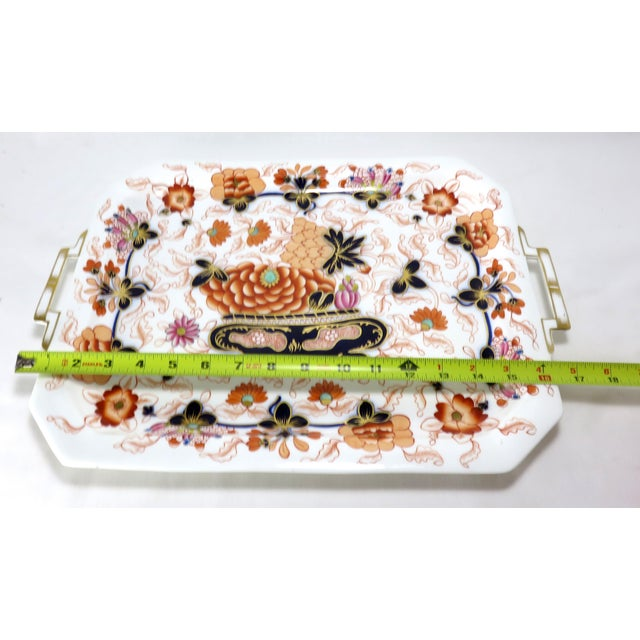 Antique Bone China Imari Style Serving Tray For Sale - Image 11 of 13