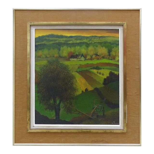 1950s French Henri Therme Landscape Oil Painting For Sale