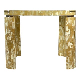 Tesselated Bone Square Game Table by Enrique Garcel Patchwork, Bogota, Columbia For Sale