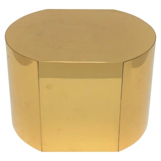 1970s Modern Brass Pedestal For Sale
